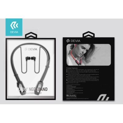 Auricolari Bluetooth Sport con Archetto Magnetico Nero