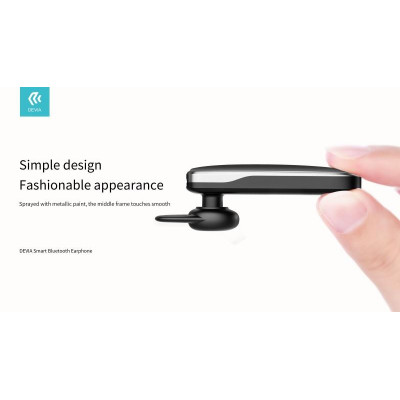 Auricolare Devia Smart Bluetooth 4.2 Riduttore Rumore Nero