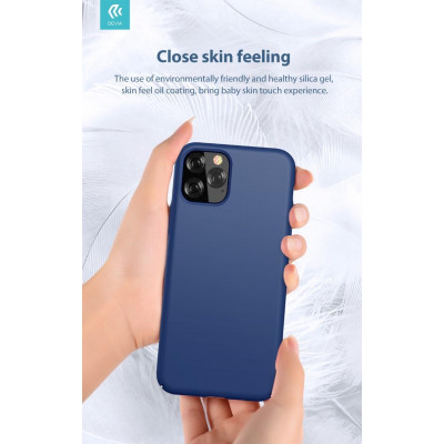 Cover in Silicone e protezione camera per iPhone 11 Pro Blu