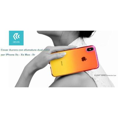 Cover Aurora dual color Giallo e Rosa per iPhone Xs 5.8