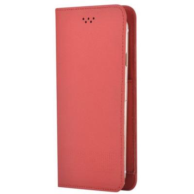 Custodia a Libro Universale per Smartphone 5.5 Pollici Rossa