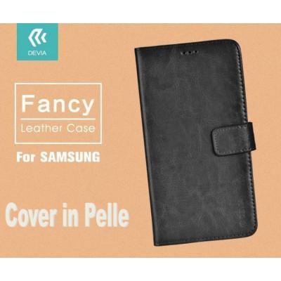 Custodia a Libro in Pelle Per Samsung Galaxy J5 Nera