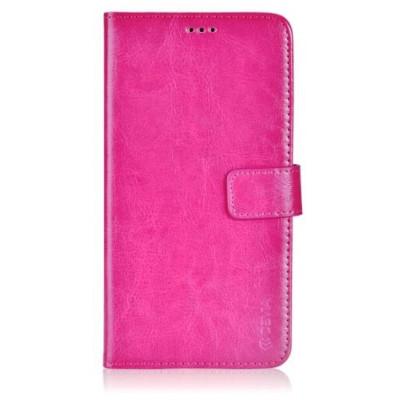 Custodia a Libro in Pelle Per Samsung Galaxy J5 Rossa