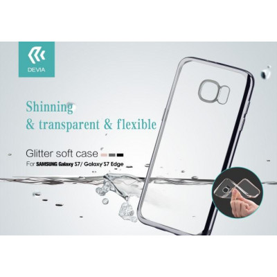 Cover Glitter Soft per Samsung Galaxy S7 Nera