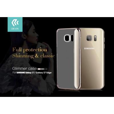 Cover Glimmer 0.6 mm per Samsung Galaxy S7 Edge Oro