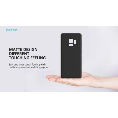 Cover PP Devia Protezione per Samsung Galaxy S9 Plus Nera