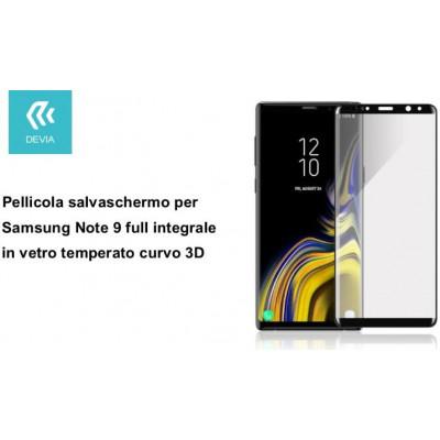 Pellicola in Vetro Temperato per Samsung Note 9 full 3D Nera