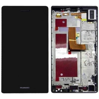 Huawei P7 / P7-L10 lcd Assemblato Con Frame Nero