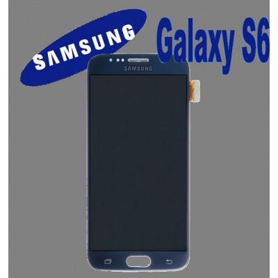LCD + TOUCH ORIGINALE PER GALAXY S6 NERO GH97-17260A