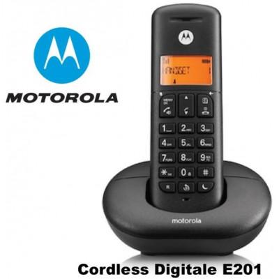 TELEFONO CORDLESS E201 MOTOROLA NERO