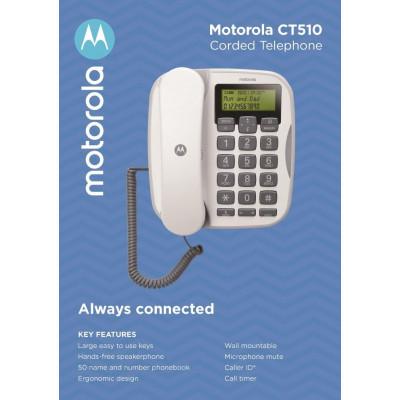 Telefono fisso con Vivavoce e Tasti grandi Motorola CT510