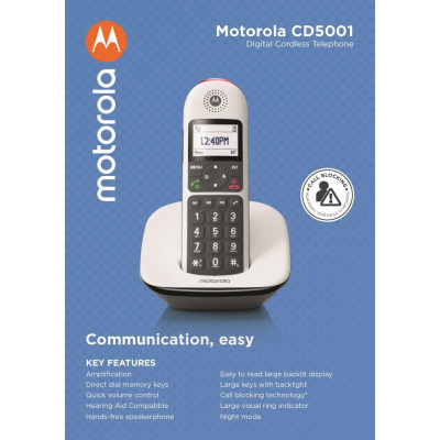 Telefono Cordless Digitale Motorola CD5001