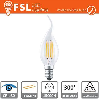 Lampada Filamento Colpo di Vento - 2W 2700K E14 250LM