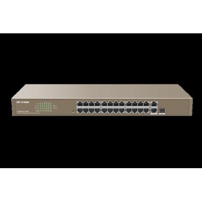 IP-COM F1226P 24FE+2GE/1SFP Web-smart PoE Switch 410W