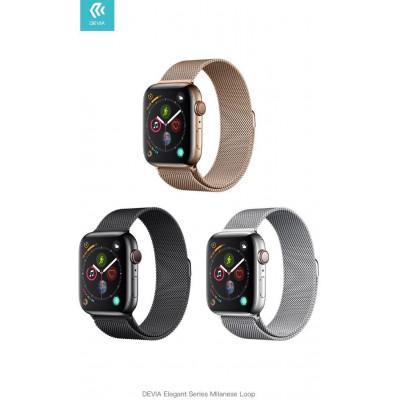 Cinturino per Apple Watch 4 serie 40mm Maglia Milano Silver