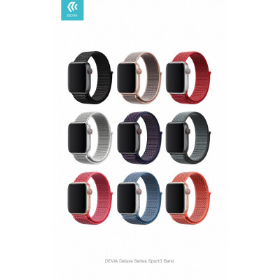 Cinturino Apple Watch 4 serie 40mm Delux Sport 3 Cape Blue
